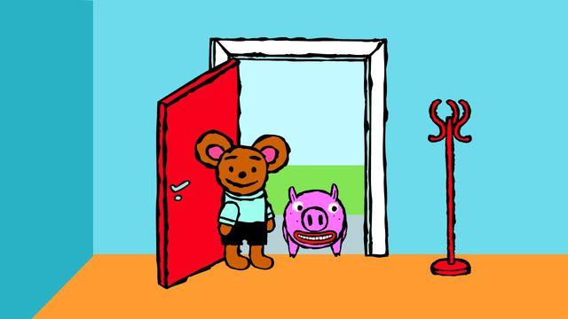 Pinos dagbok - swahili : Pino och grisen