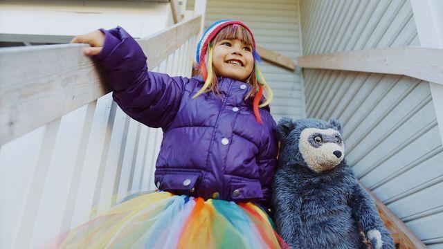 Brillebjörn : Regnbågen