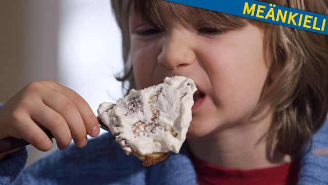 Bara vanligt vatten - meänkieli : Vatten i en pannkaka