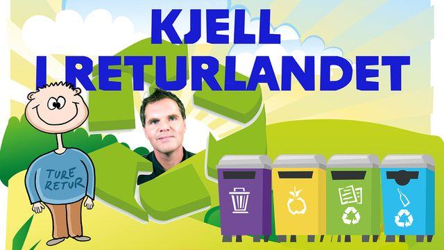 Kjell i Returlandet : Papper och restavfall