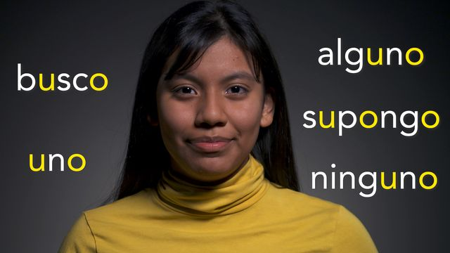 "Uttala utan skam - spanska : U som i ""única"""