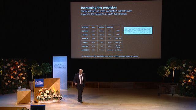 UR Samtiden - Nobelföreläsningar 2019 : Michel Mayor, fysik